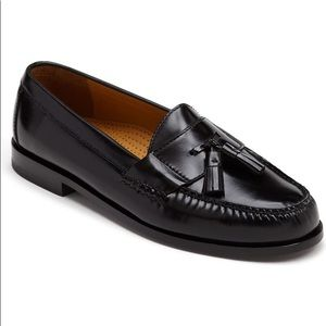 Cole Haan Black Leather Pinch Tassel Loafers
